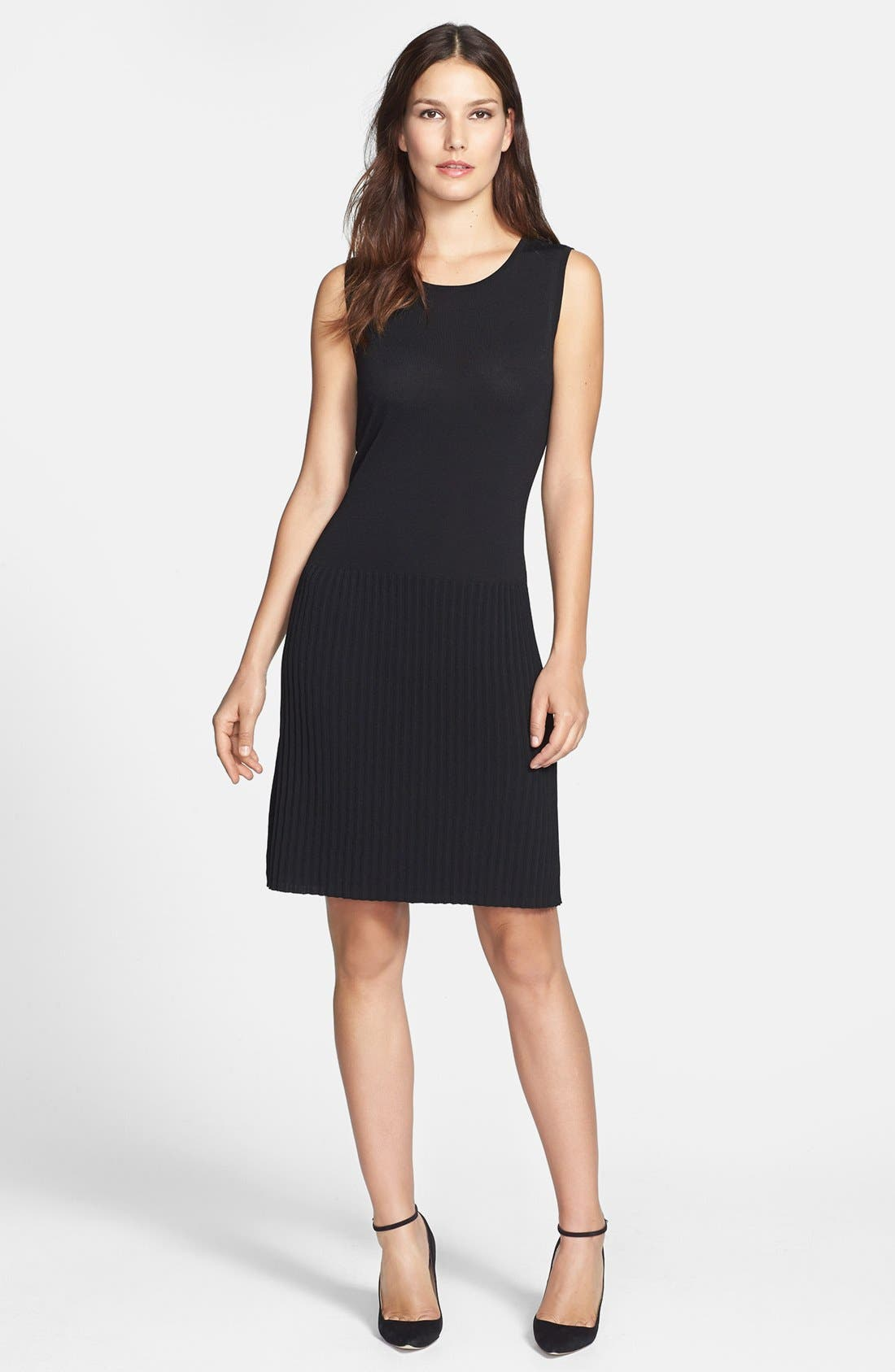 Alternate Image 1 Selected - Chaus Faux Leather Trim Dress