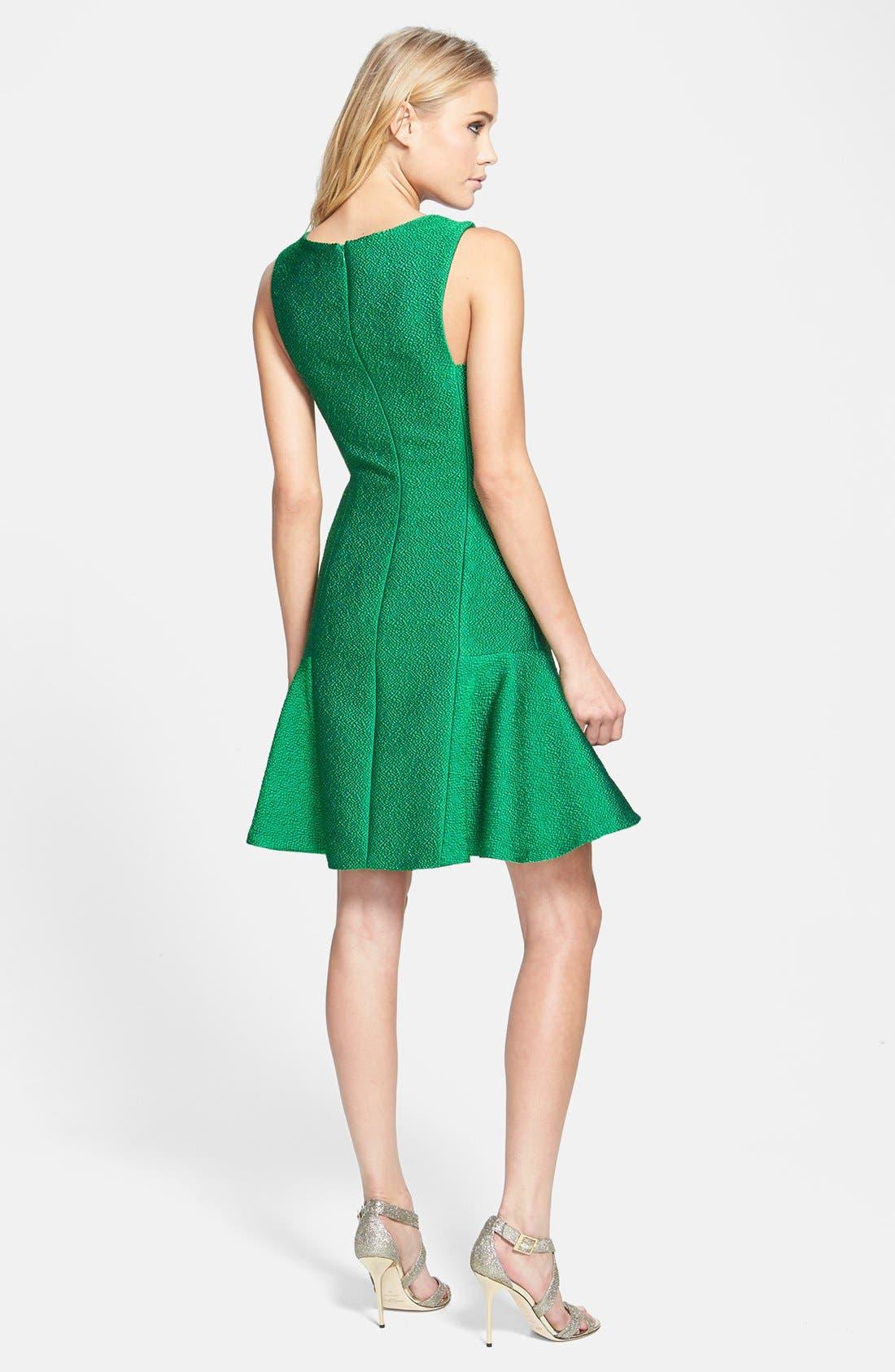 Alternate Image 2  - ML Monique Lhuillier Jacquard Drop Waist Dress