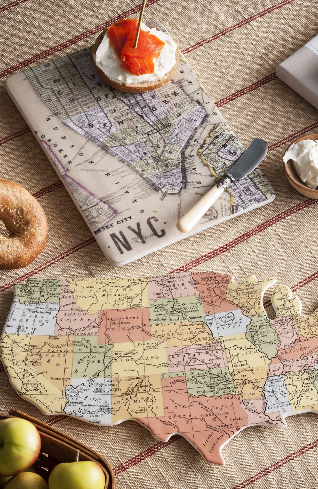 Alternate Image 8  - Rosanna 'Cartography - USA' Porcelain Tray