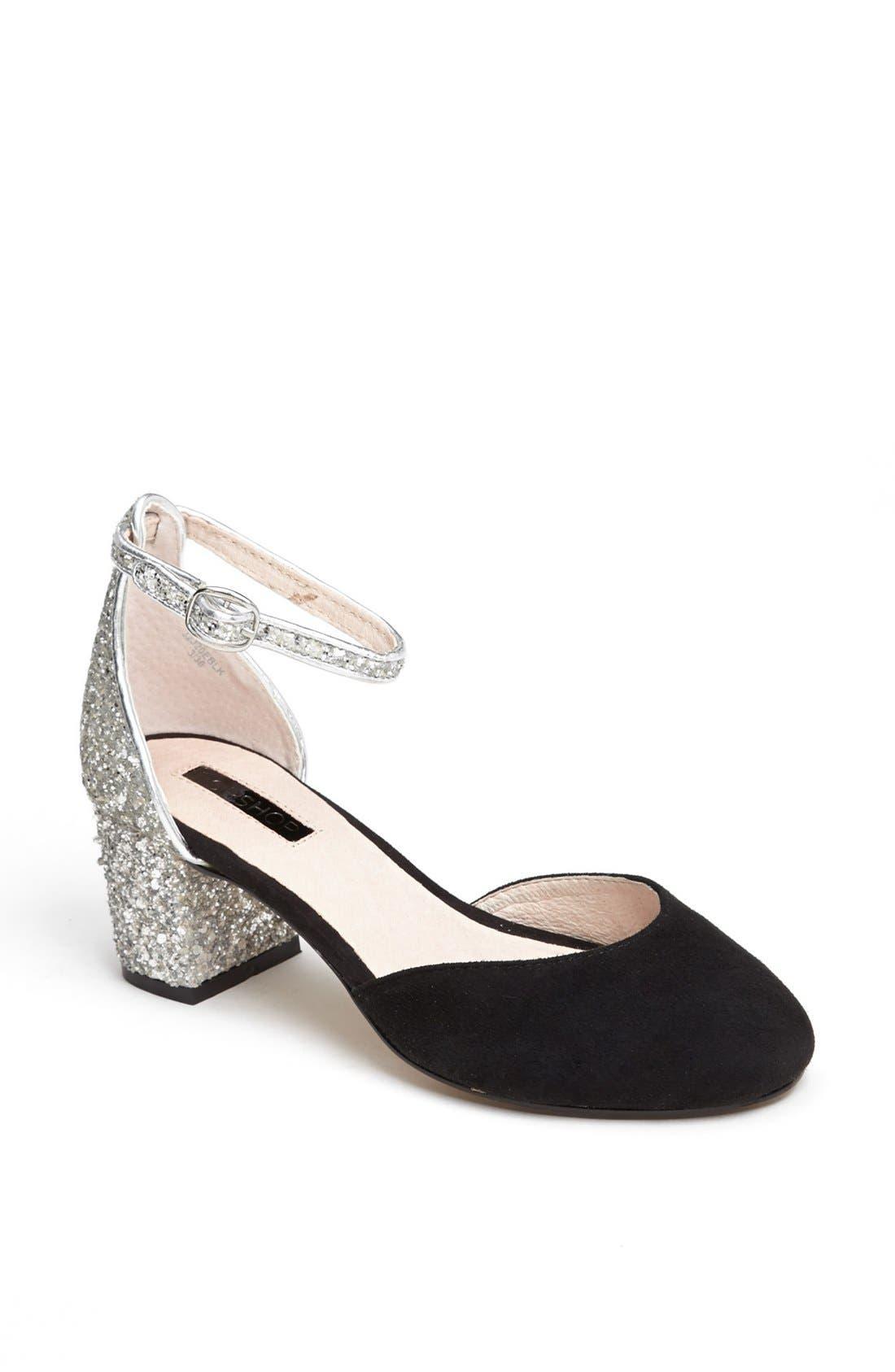 Main Image - Topshop 'Juniper' Glitter Heel Pump