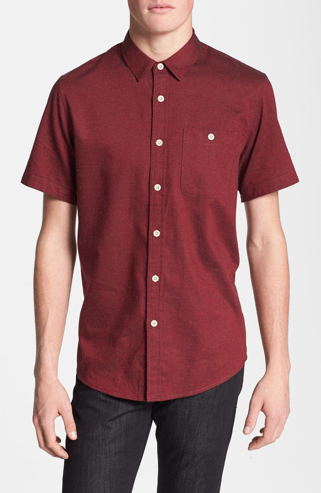 Alternate Image 1 Selected - Topman Classic Fit Flannel Shirt