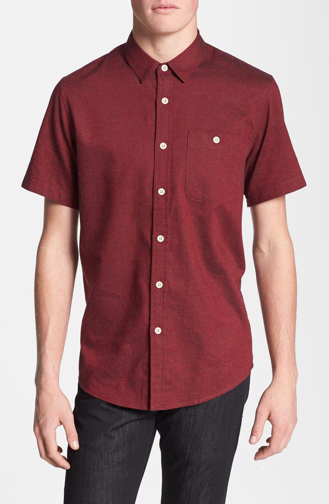 Main Image - Topman Classic Fit Flannel Shirt