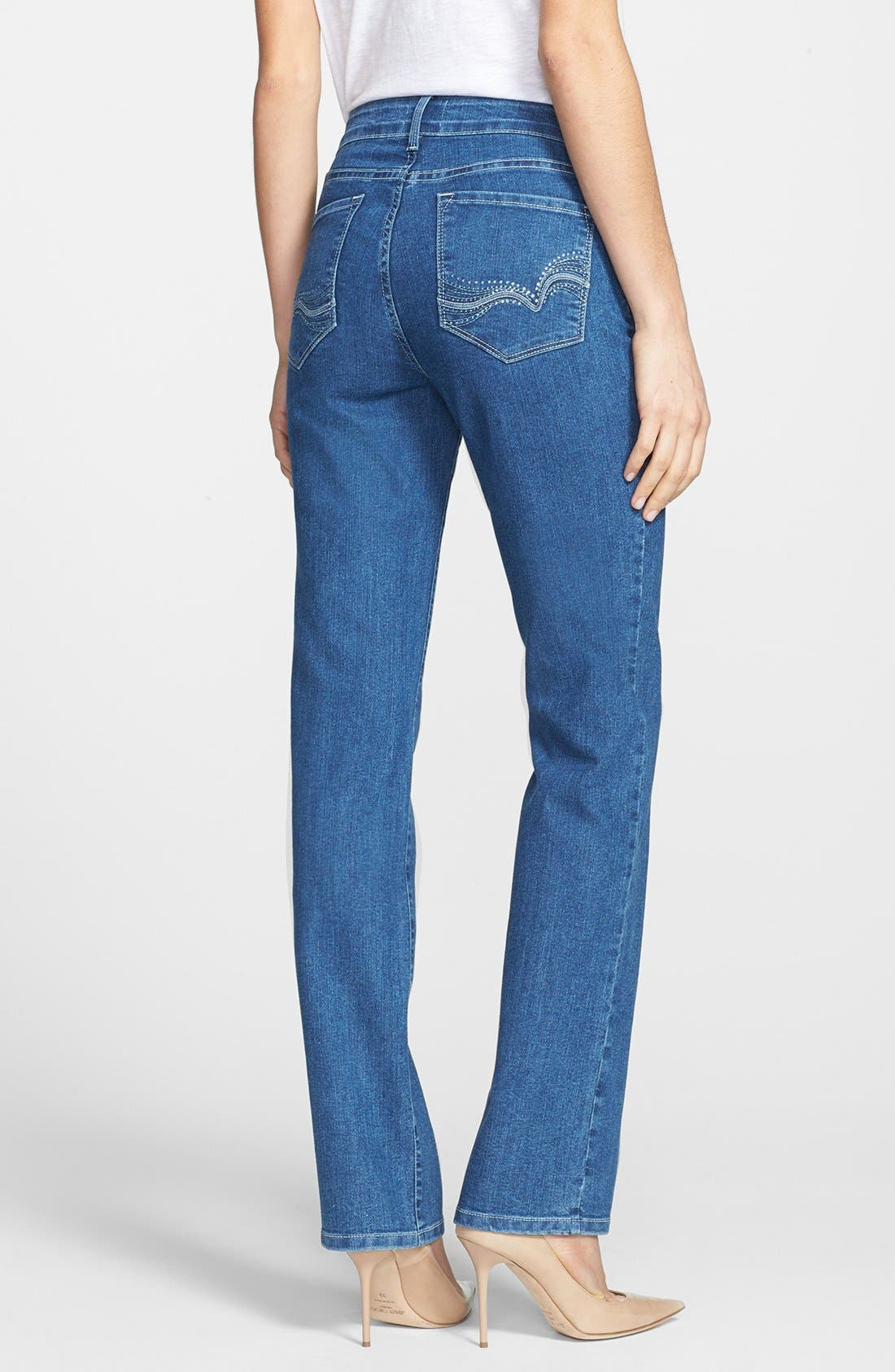 Alternate Image 3  - NYDJ 'Marilyn' Stretch Straight Leg Jeans (Maryland)
