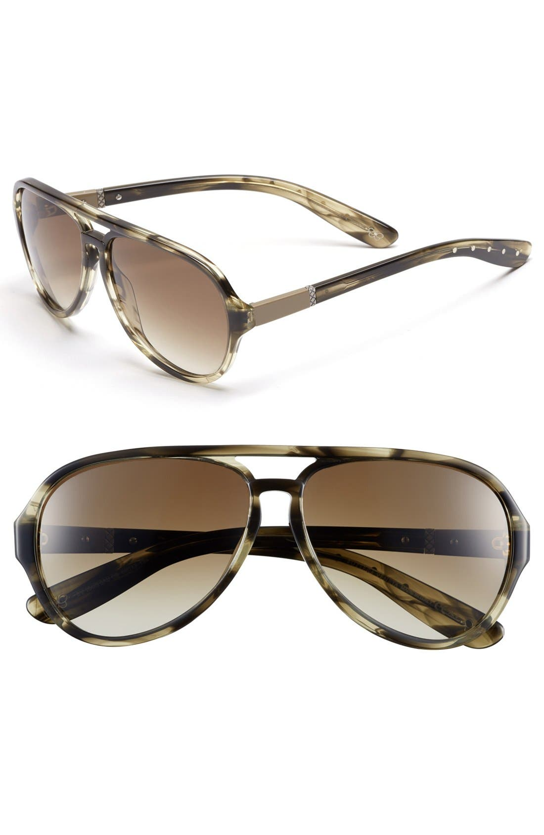 Main Image - Bottega Veneta Aviator Sunglasses