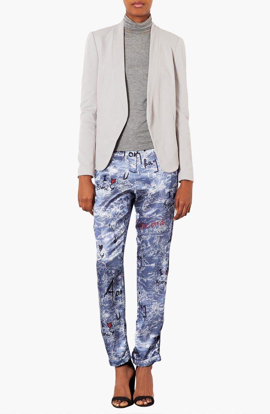 Alternate Image 4  - Topshop 'Darcy' Textured Blazer