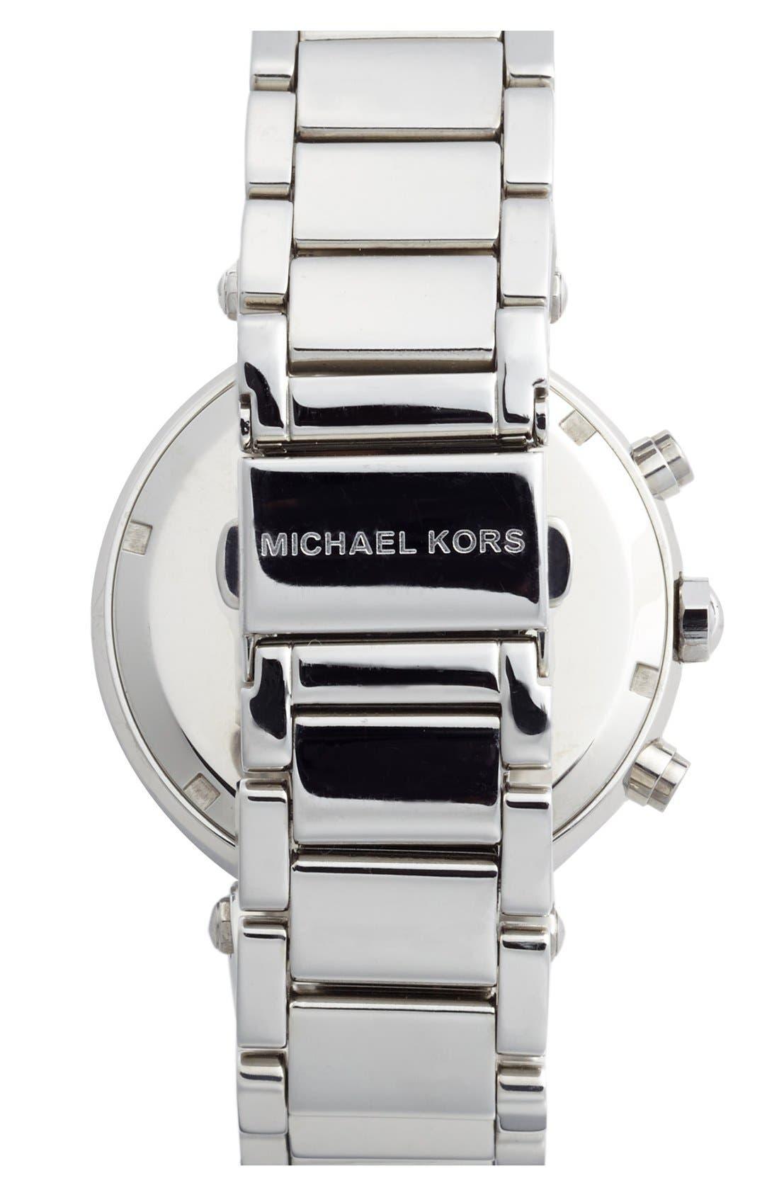 Michael Kors 'Parker' Chronograph Bracelet Watch, 39mm,                             Alternate thumbnail 2, color,                             Silver