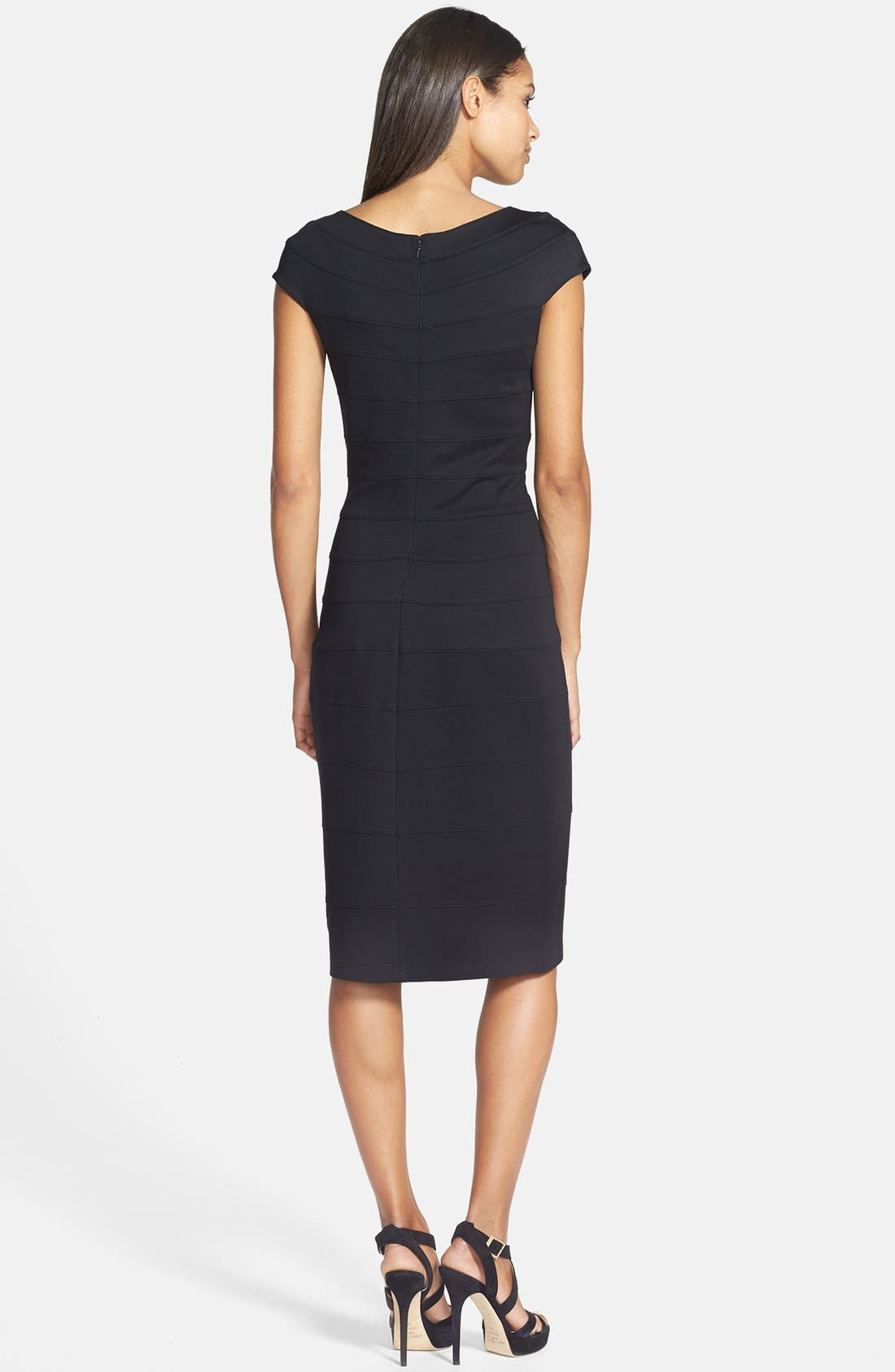Alternate Image 3  - T by Tadashi Off Shoulder Stretch Jersey Sheath Dress