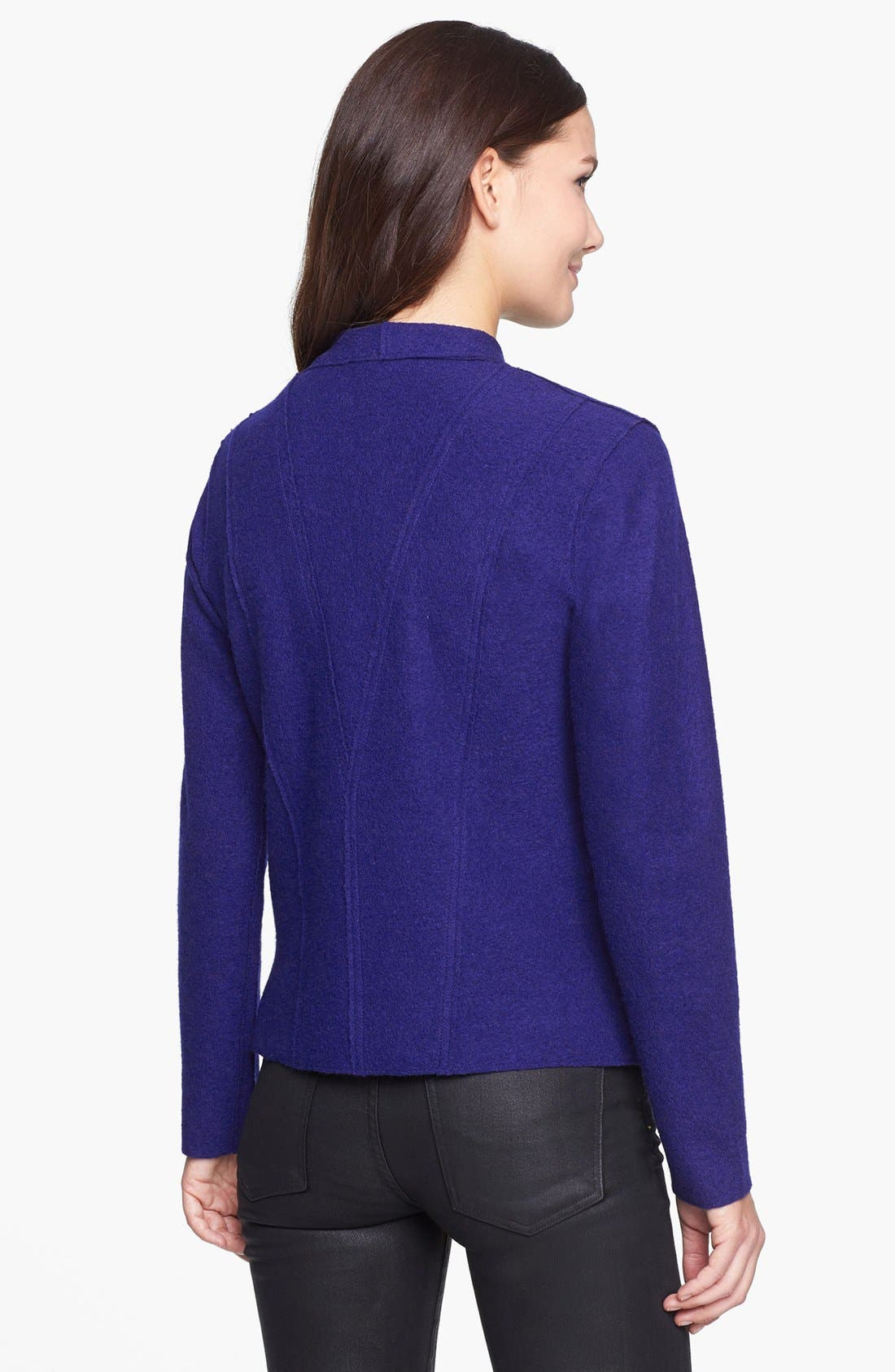 Alternate Image 2  - Eileen Fisher Lightweight Boiled Wool Jacket (Regular & Petite)