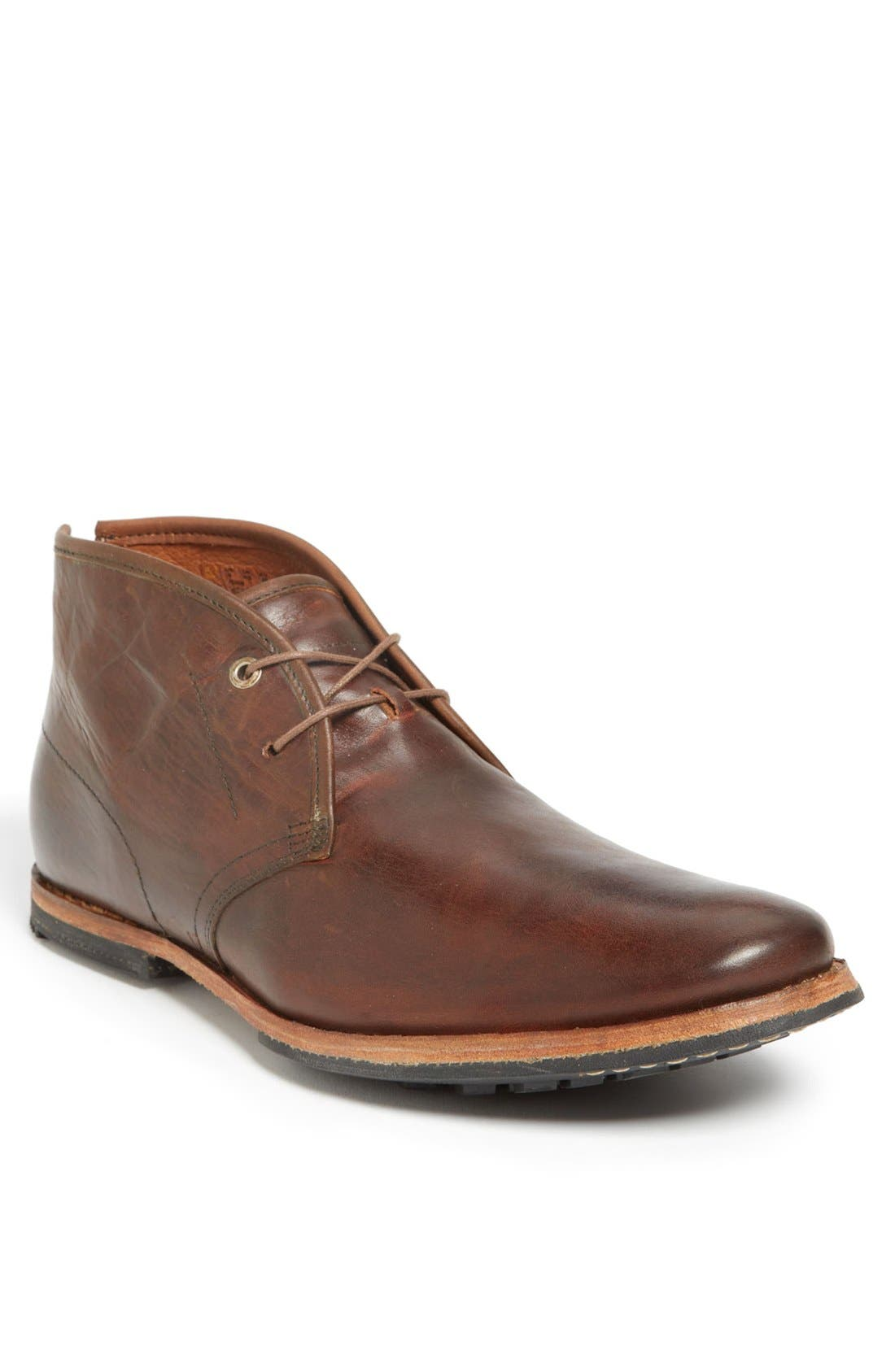 Wodehouse Lost History Chukka Boot,                         Main,                         color, Burnished Dark Brown Leather
