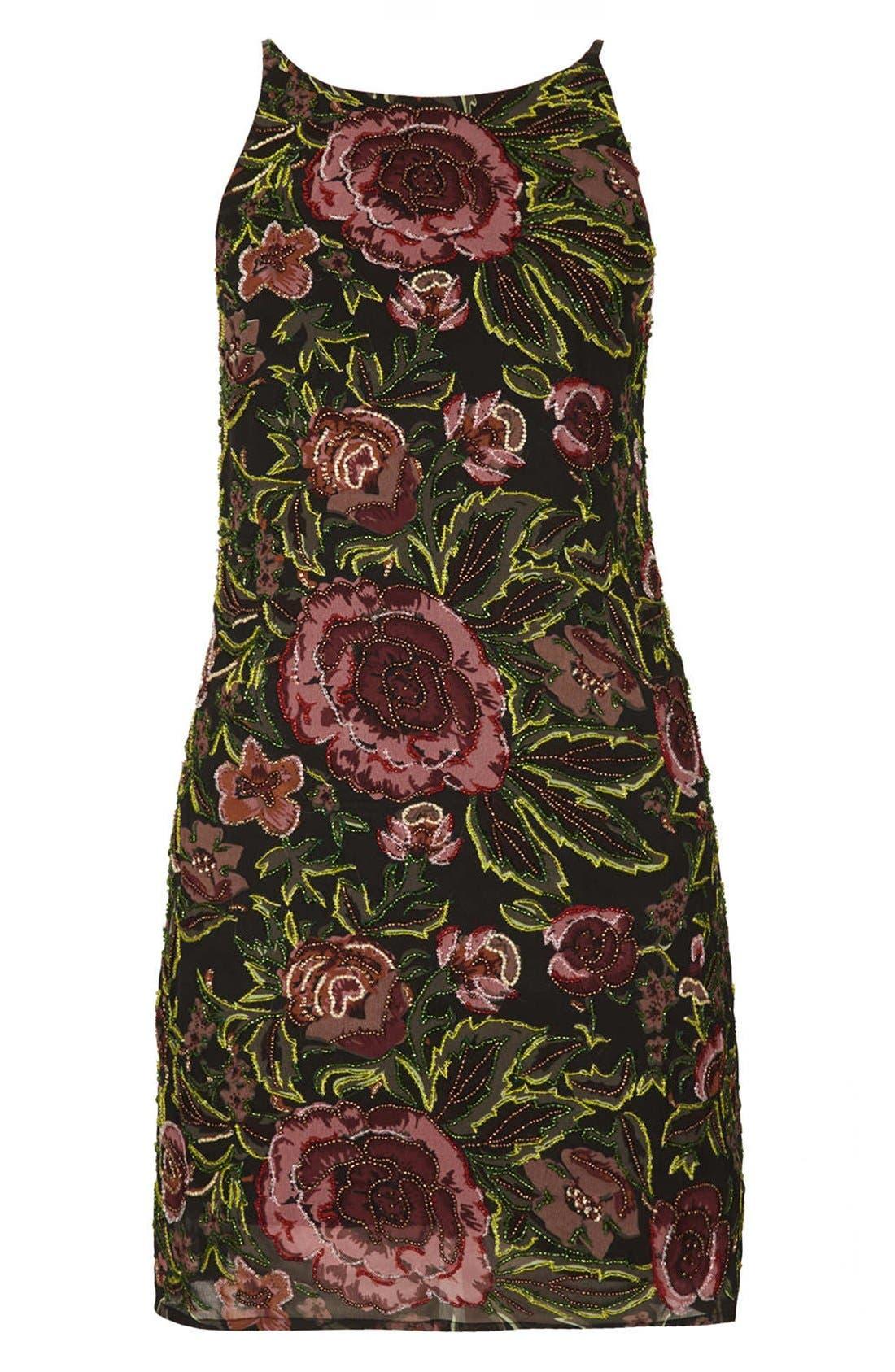Alternate Image 3  - Topshop Embellished Floral Slipdress