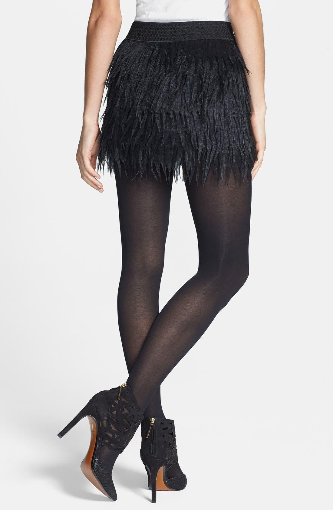Alternate Image 4  - Press Faux Feather Miniskirt