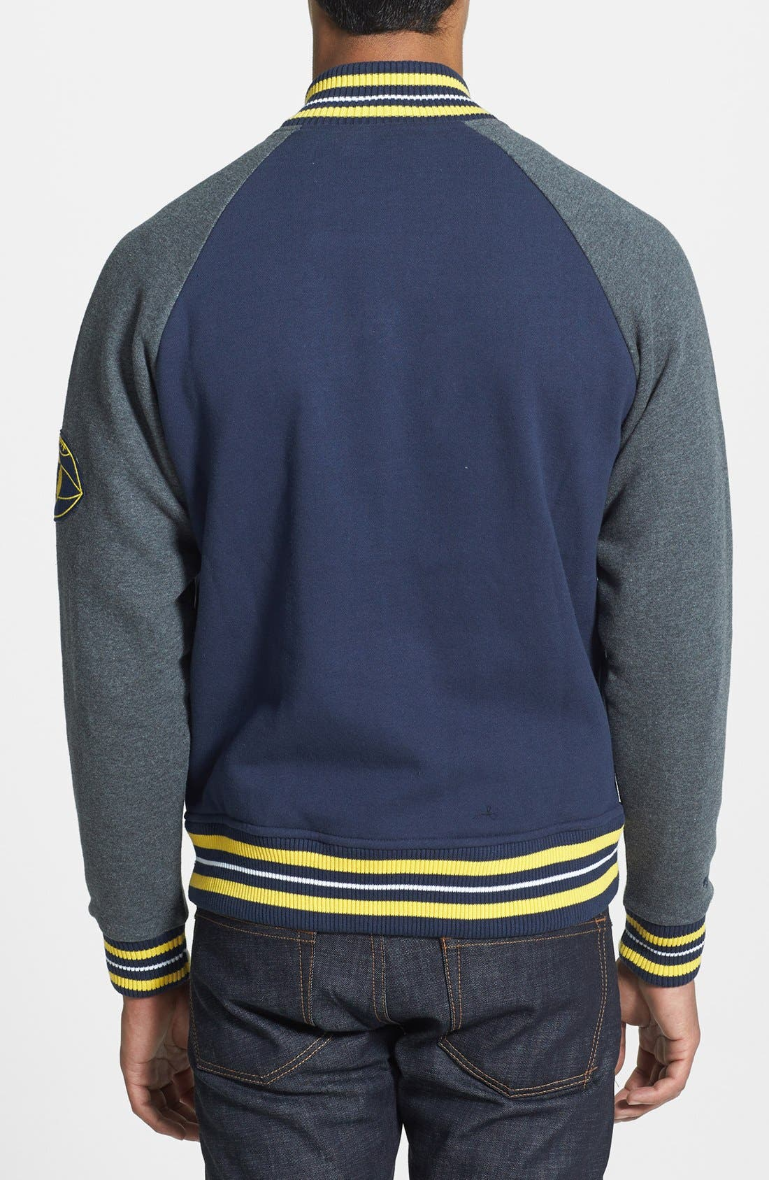 Alternate Image 2  - Mitchell & Ness 'Backward Pass - Michigan' Fleece Jacket