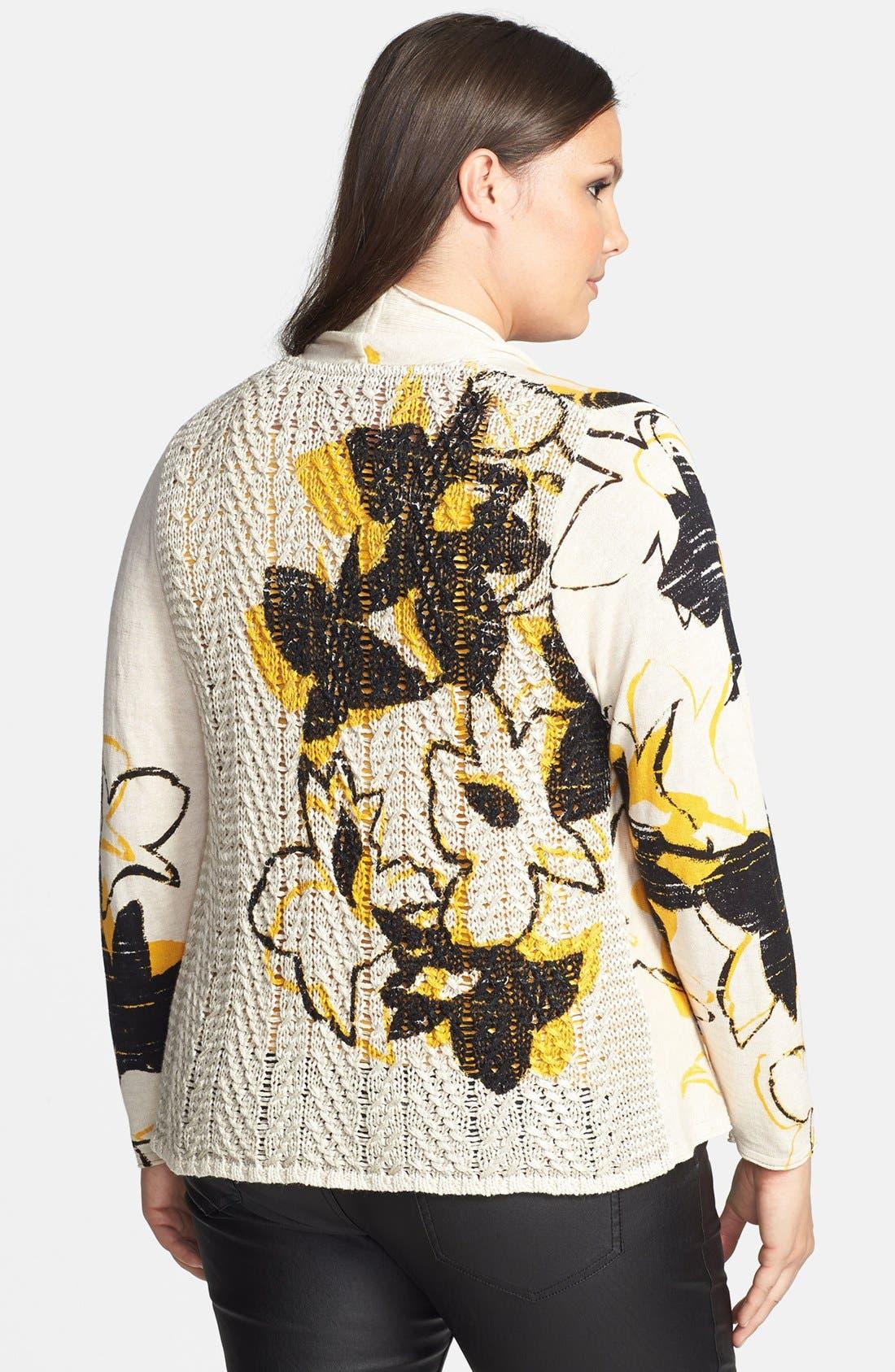 Alternate Image 2  - NIC+ZOE 'Flower Burst' Cardigan (Plus Size)