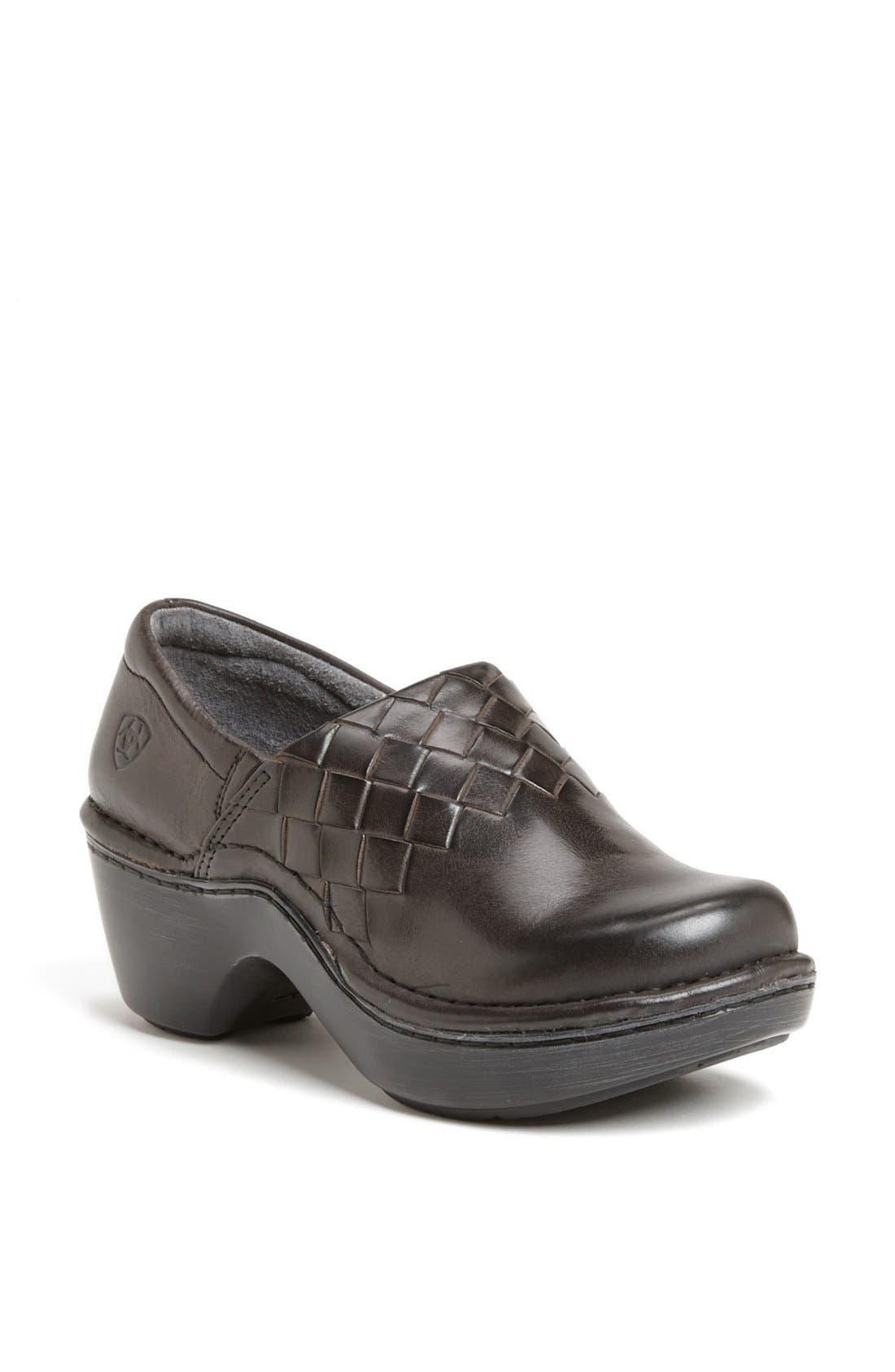 Main Image - Ariat 'Ashbourne' Woven Leather Clog