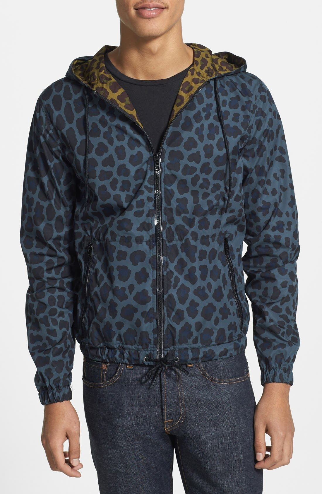 Alternate Image 1 Selected - MARC BY MARC JACOBS 'London Leopard' Water Resistant Jacket