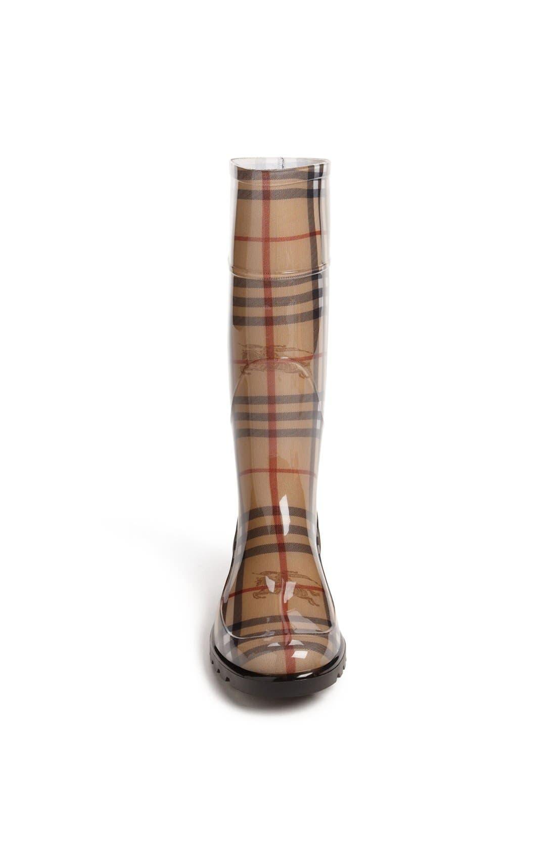 Alternate Image 3  - Burberry Tall Rain Boot (Women)