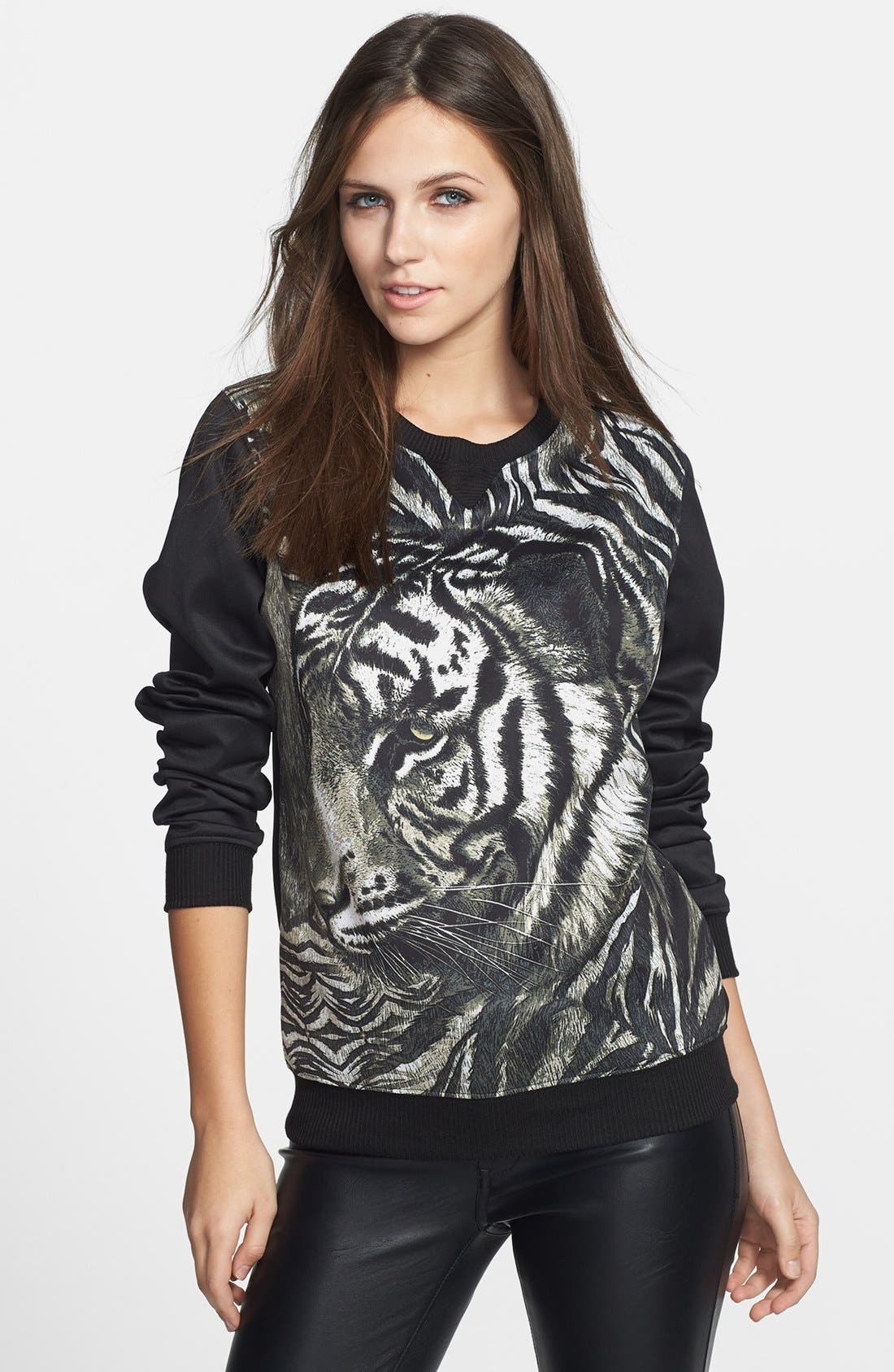 Alternate Image 1 Selected - WAYF Graphic Print Neoprene Sweatshirt