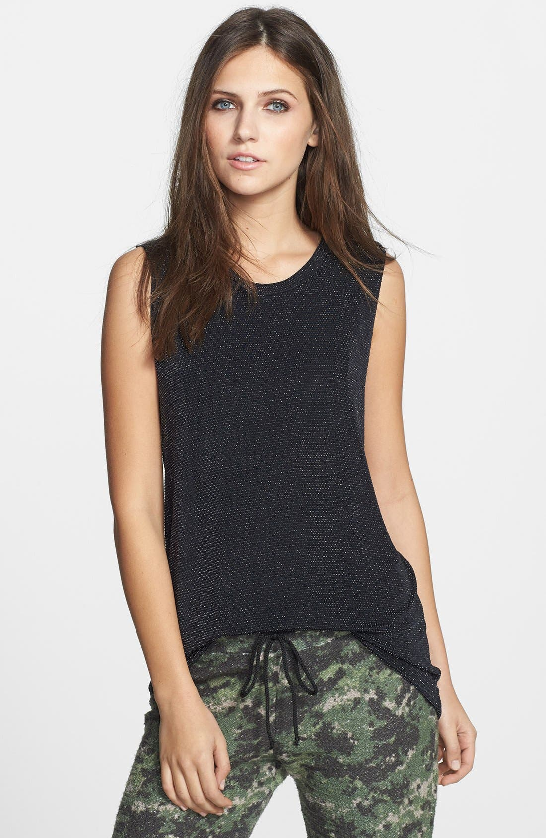 Main Image - Lucca Couture Metallic Muscle Tank