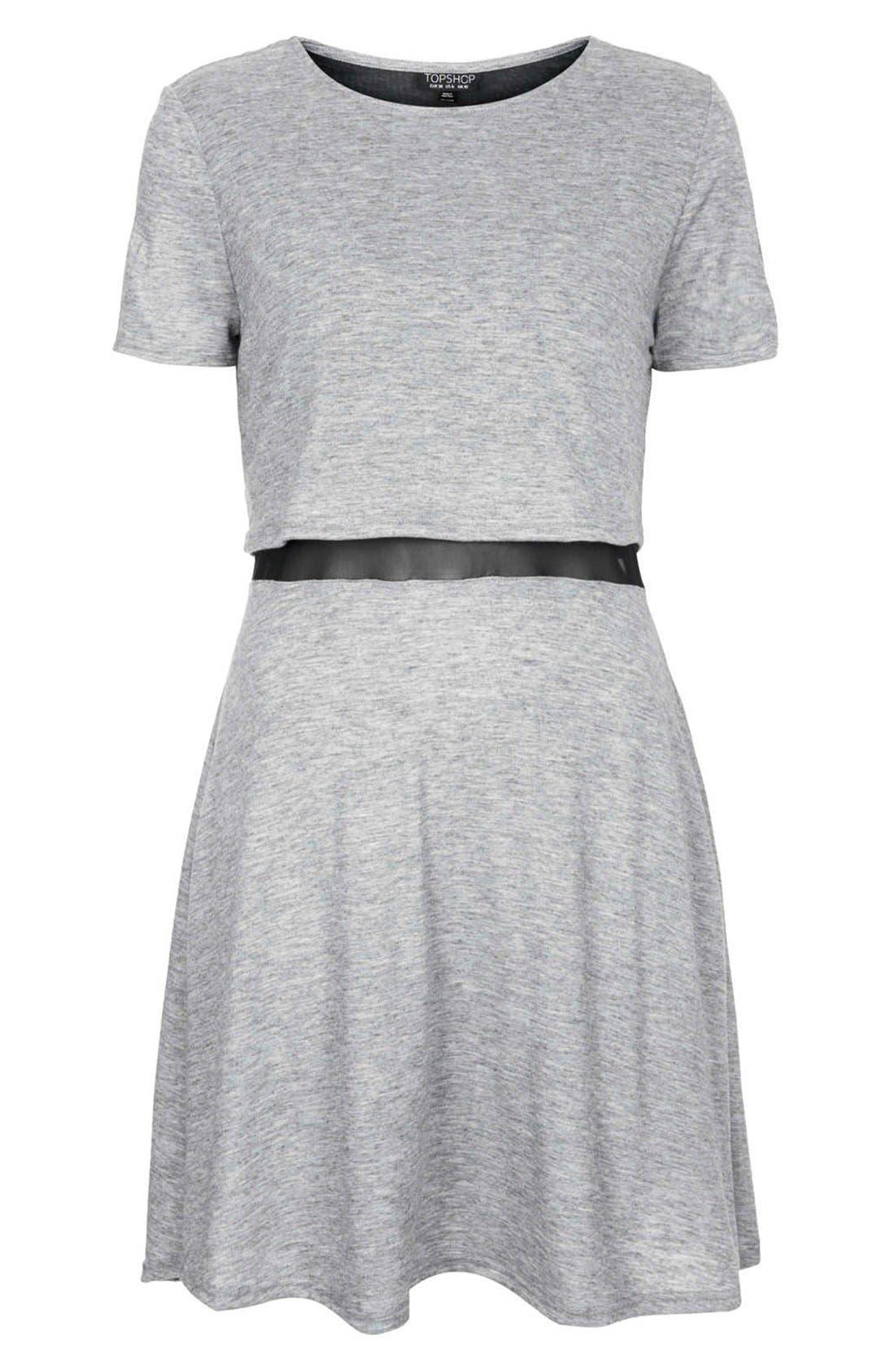 Alternate Image 3  - Topshop Mesh Inset Overlay Shift Dress