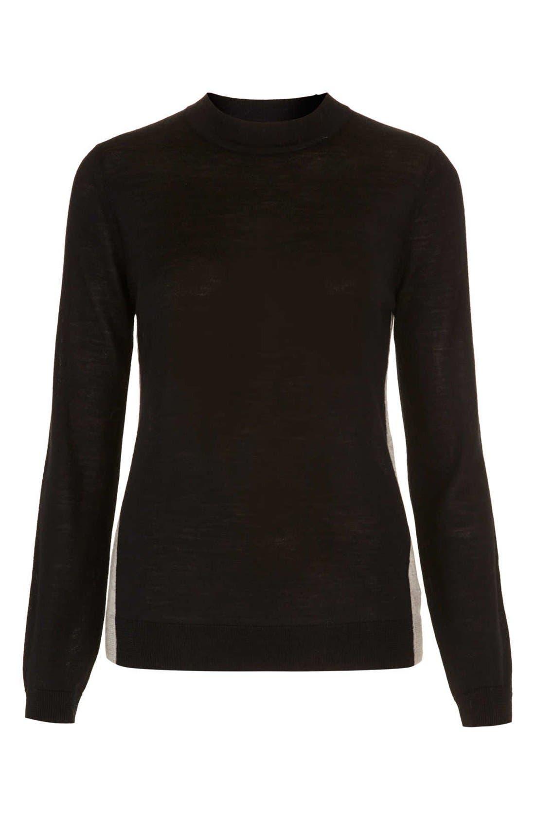 Alternate Image 3  - Topshop Colorblock Merino Wool Sweater