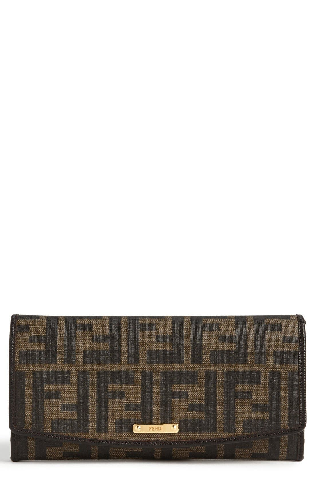 Alternate Image 1 Selected - Fendi 'Zucca' Continental Wallet