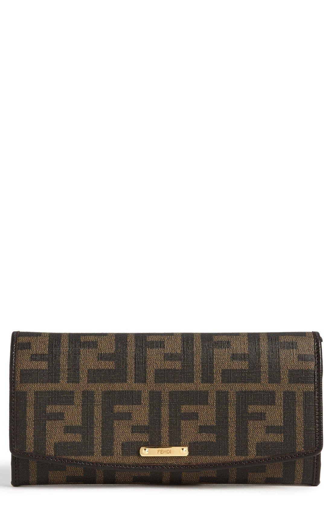 Main Image - Fendi 'Zucca' Continental Wallet
