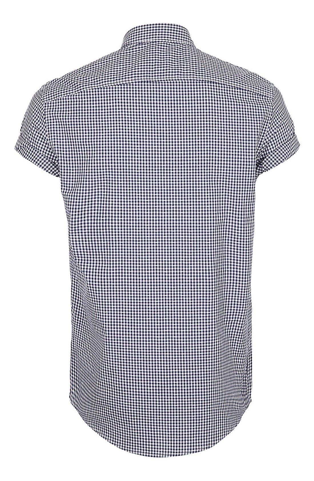 Alternate Image 2  - Topman Short Sleeve Gingham Shirt
