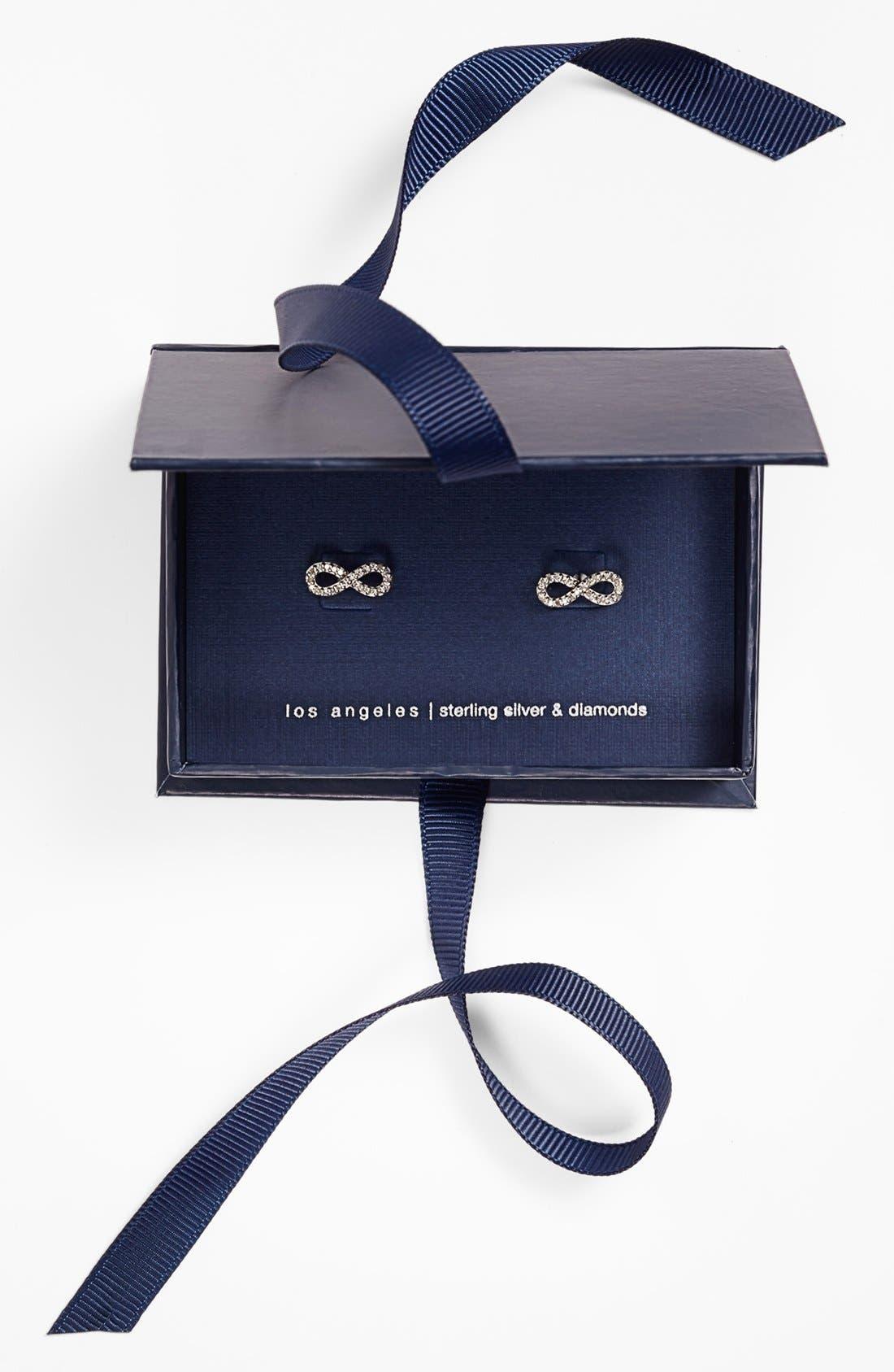 Alternate Image 3  - Adina Reyter Pavé Diamond Infinity Symbol Stud Earrings (Online Only)