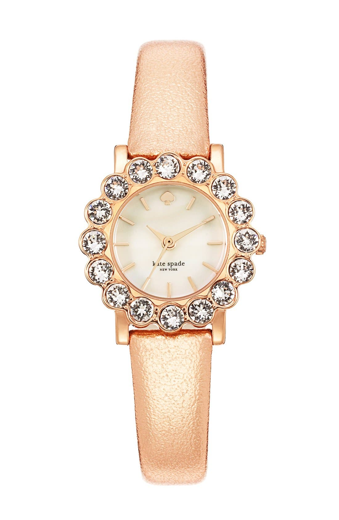 Alternate Image 3  - kate spade new york 'belvedere' crystal bezel watch, 24mm