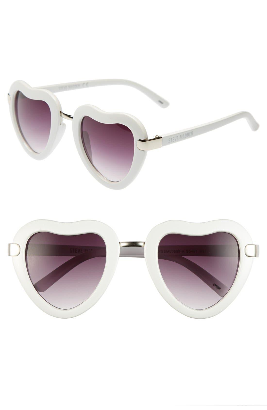 Alternate Image 1 Selected - Steve Madden 'Heart' 46mm Sunglasses