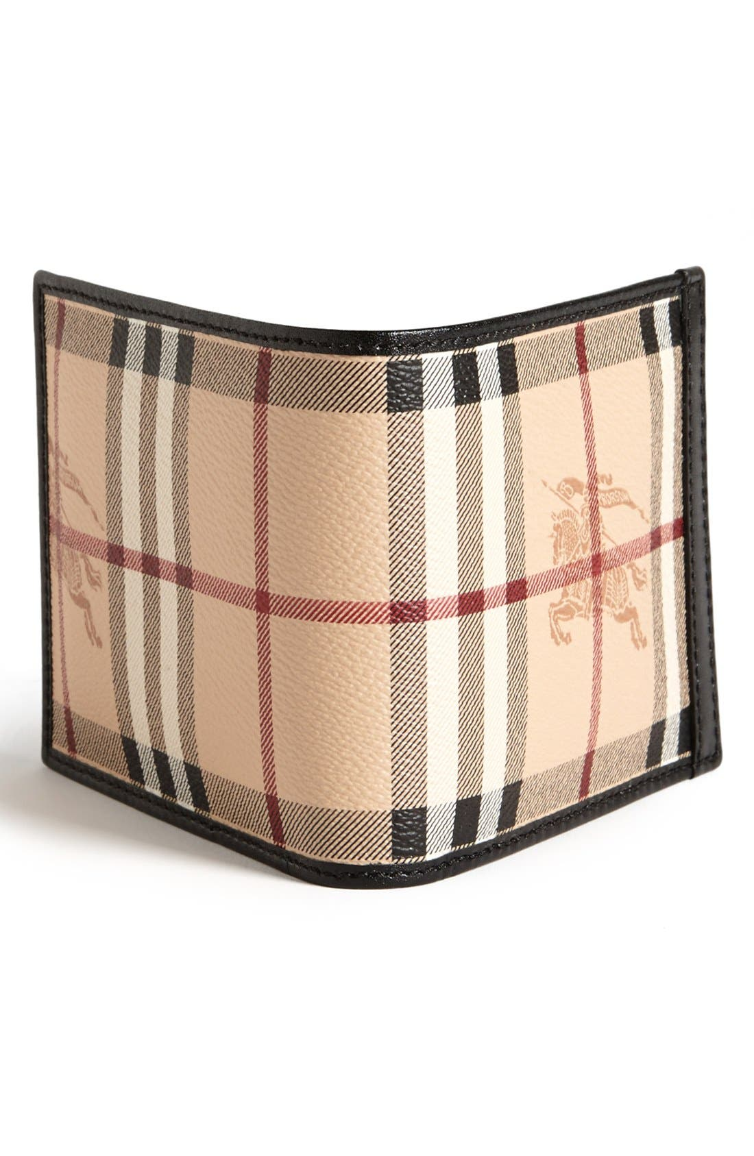 Alternate Image 3  - Burberry Haymarket Check Print Billfold Wallet