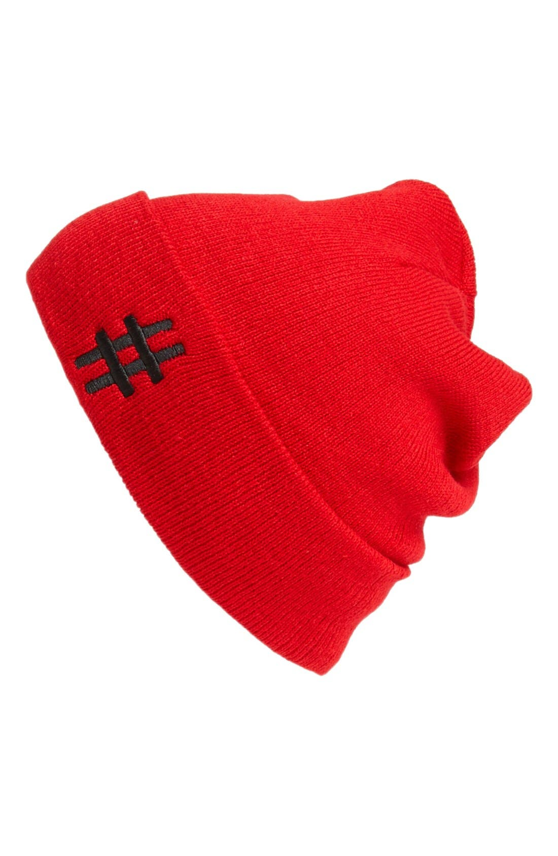 Main Image - In Record Time 'Hashtag' Beanie
