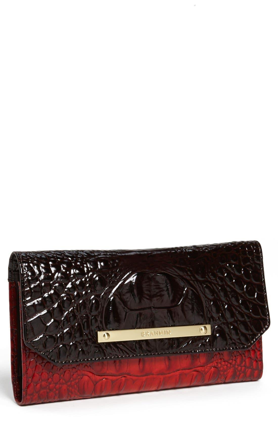 Alternate Image 1 Selected - Brahmin Croc Embossed Envelope Wallet