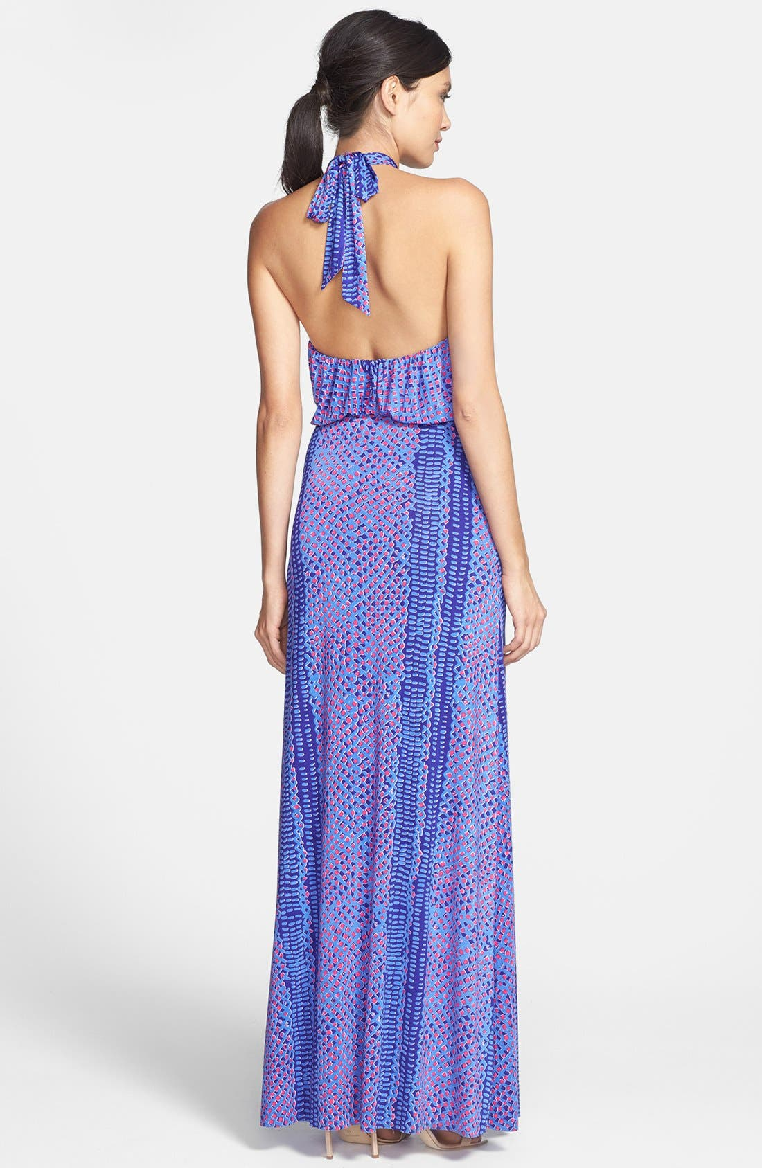 Alternate Image 2  - T Bags Print Jersey Halter Maxi Dress