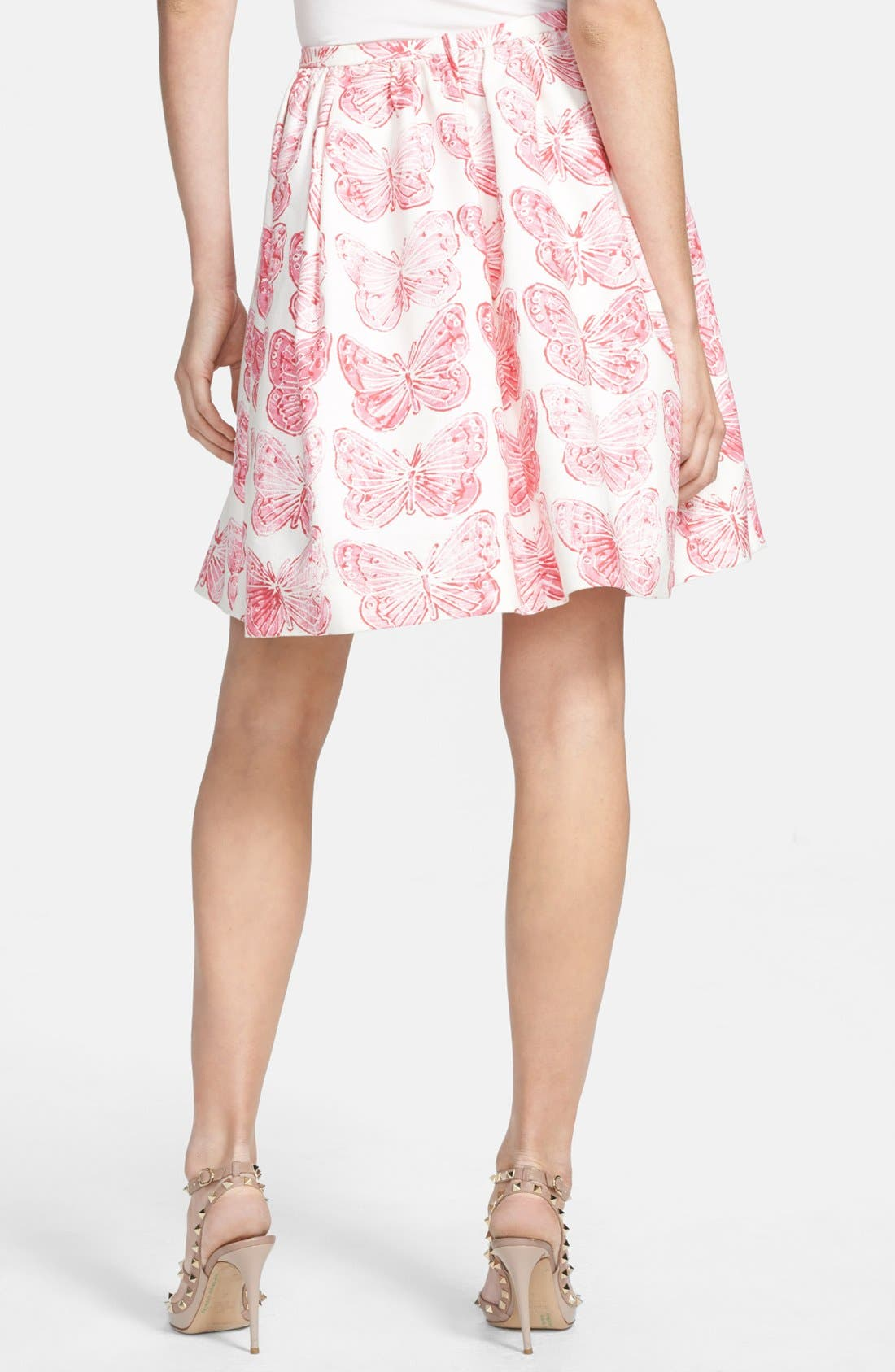 Alternate Image 2  - RED Valentino Butterfly Print Pleated Skirt