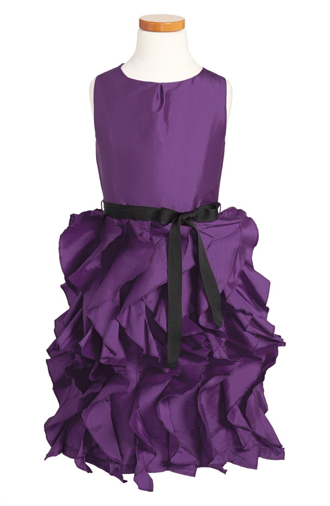 Alternate Image 1 Selected - Us Angels Ruffle Skirt Sleeveless Dress (Little Girls & Big Girls)