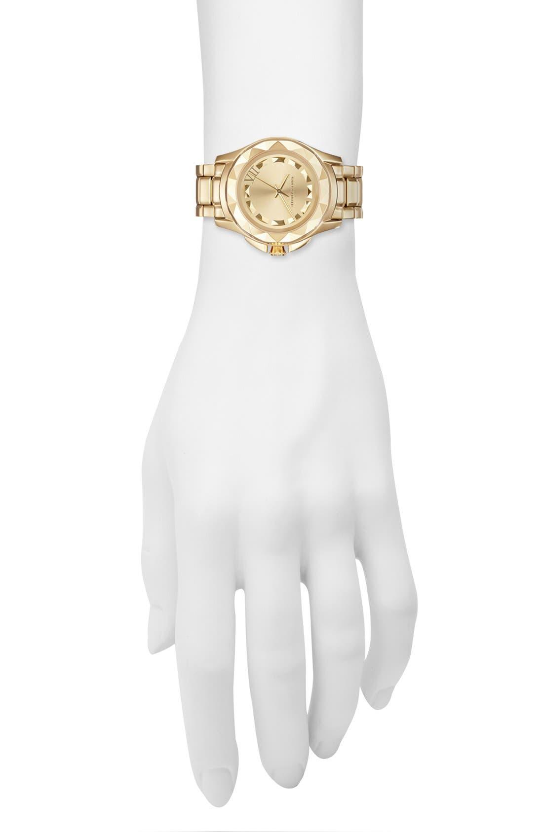 Alternate Image 4  - KARL LAGERFELD '7' Faceted Bezel Bracelet Watch, 36mm