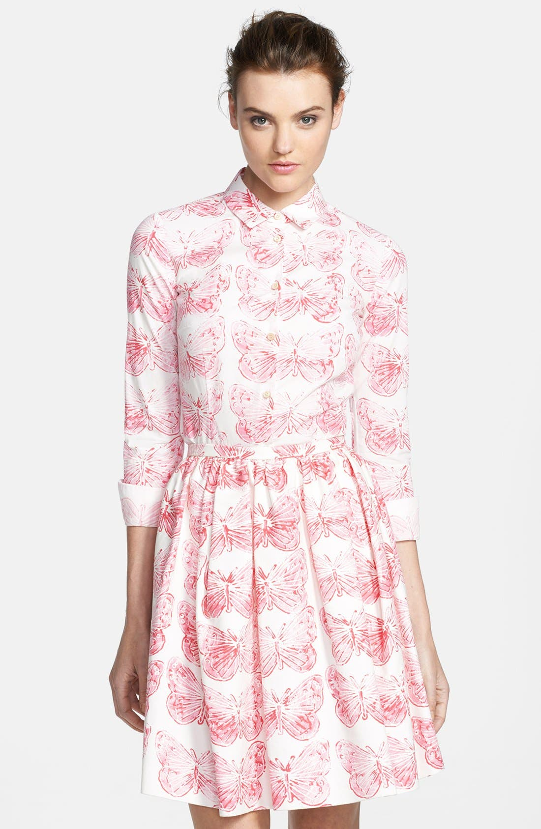 Alternate Image 4  - RED Valentino Butterfly Print Cotton Blouse
