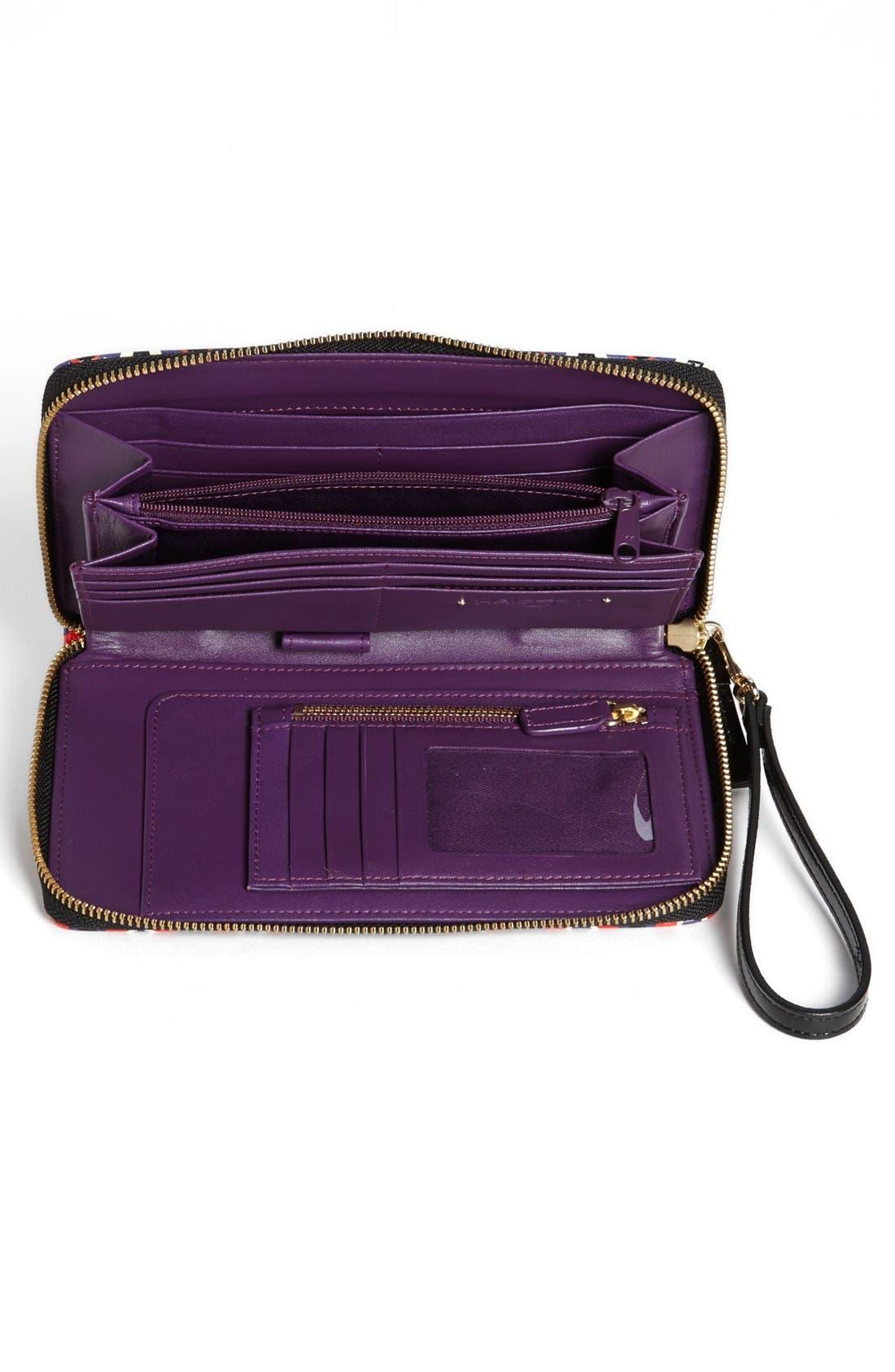 Alternate Image 2  - Halogen® 'Hypergraphic' Leather Zip-Around Wallet