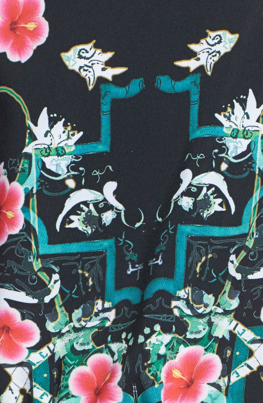 Alternate Image 3  - Clover Canyon 'Cuba Scarf' Print Stretch Blouson Dress