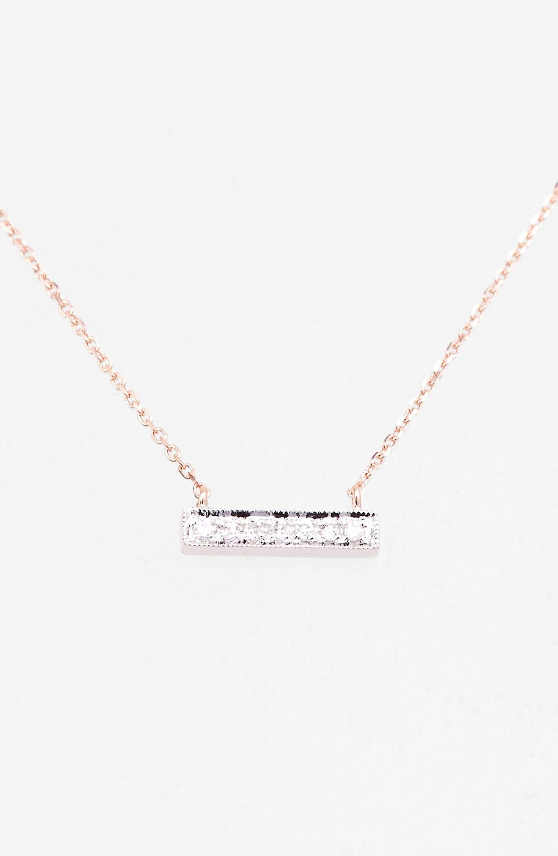Dana Rebecca Designs 'Sylvie Rose' Diamond Bar Pendant Necklace