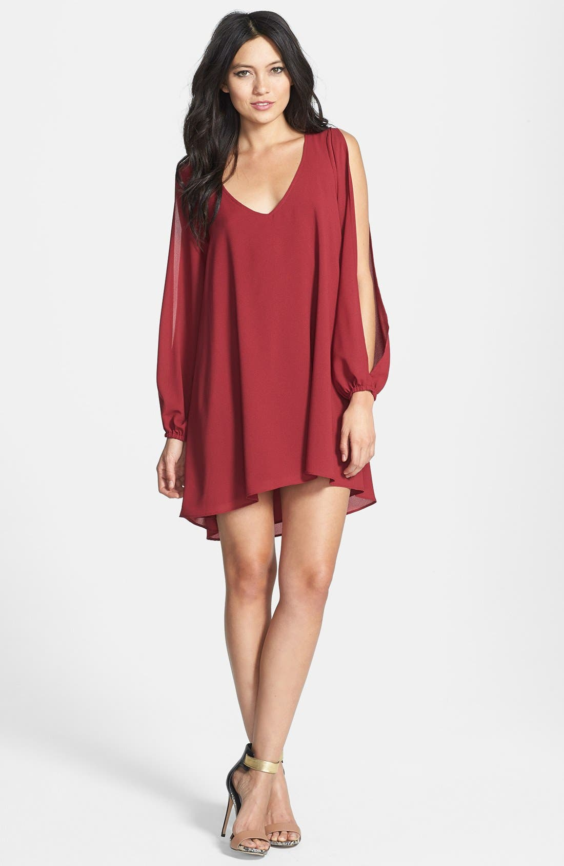 Alternate Image 1 Selected - L is for Lover 'Gracie' Split Sleeve Mini Dress