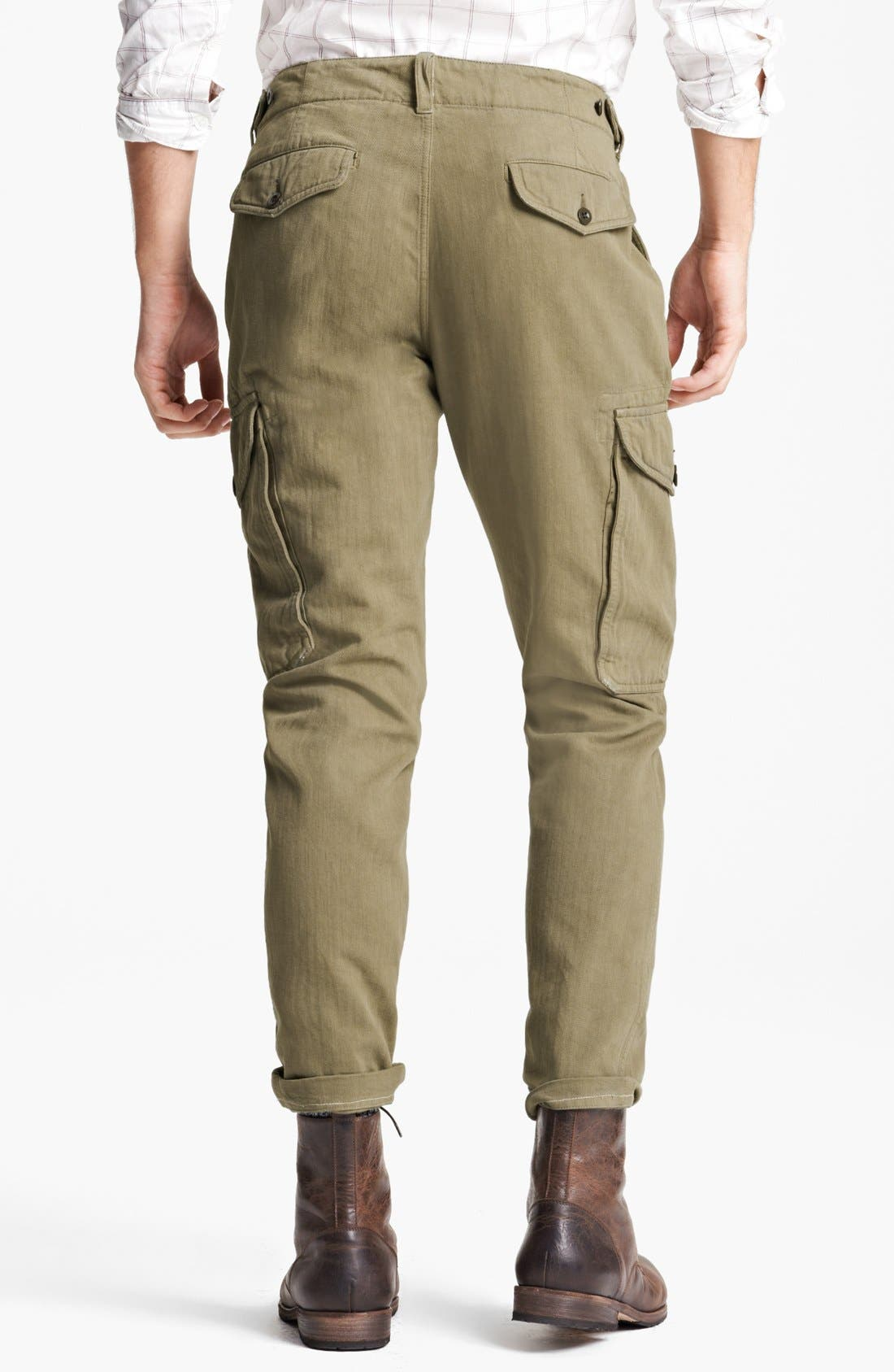 Alternate Image 2  - Todd Snyder 'Infantry' Herringbone Cargo Pants