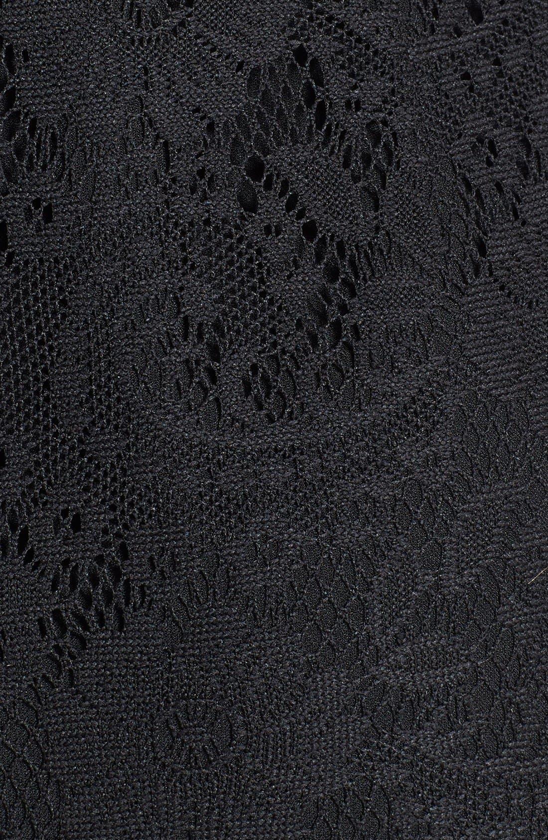 Alternate Image 4  - Adrianna Papell Scalloped Lace Sheath Dress (Regular & Petite)