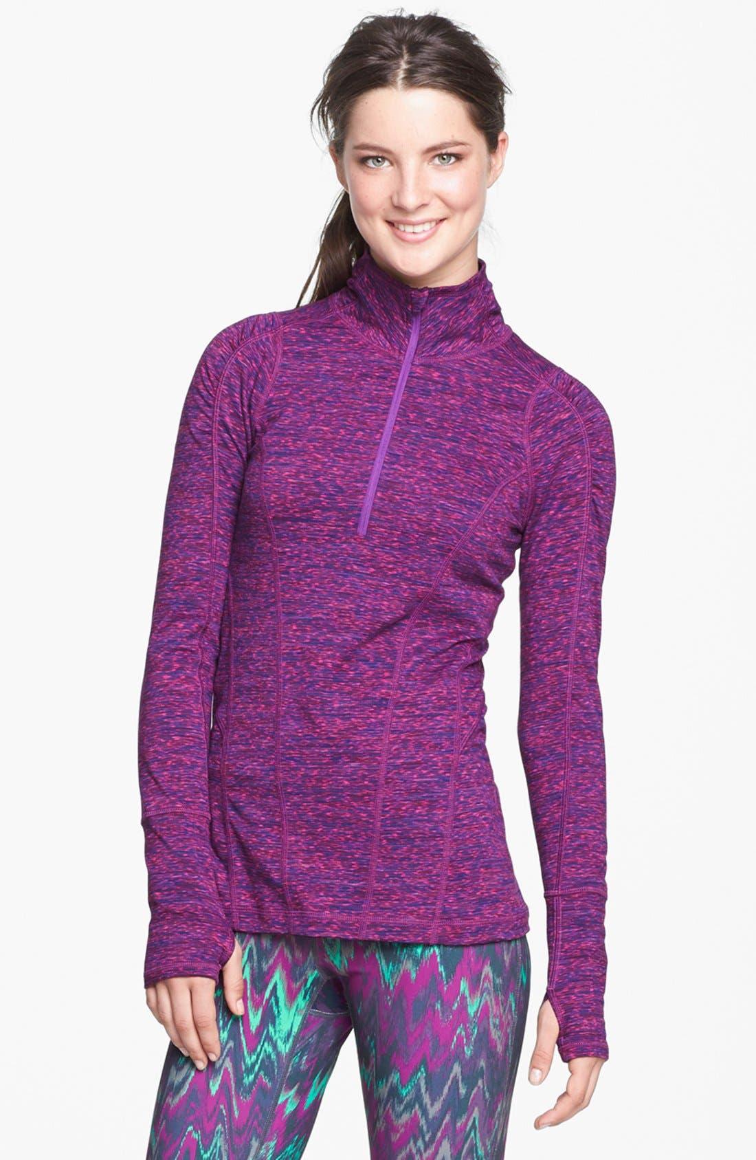 Main Image - Zella 'Good Sport' Space Dye Half Zip Pullover