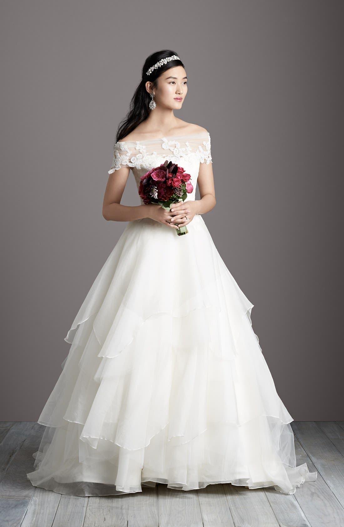 Alternate Image 6  - Hayley Paige 'Mila' Strapless Silk Organza Wedding Dress (In Stores Only)