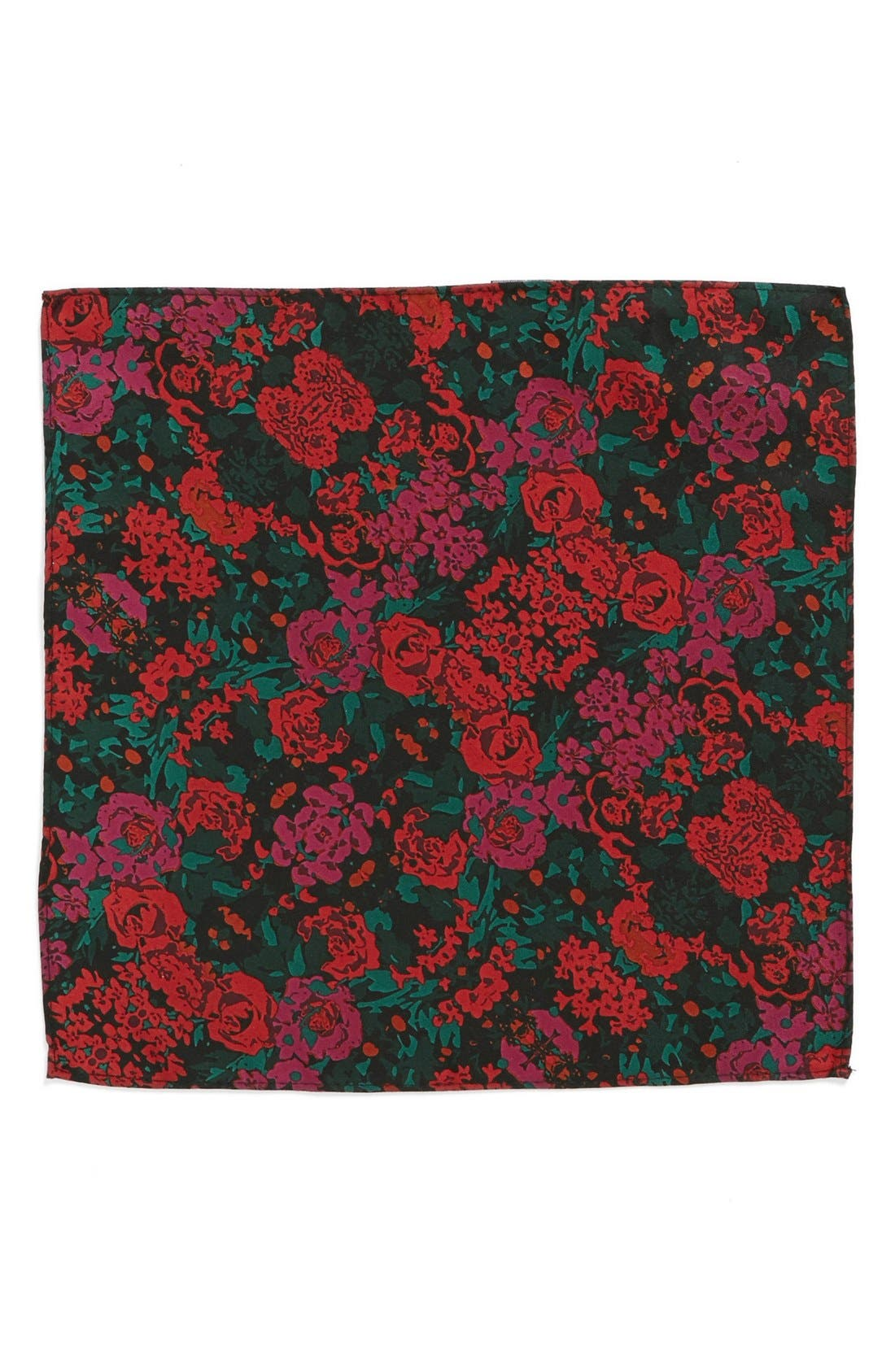 Alternate Image 2  - Topman Floral Print Pocket Square
