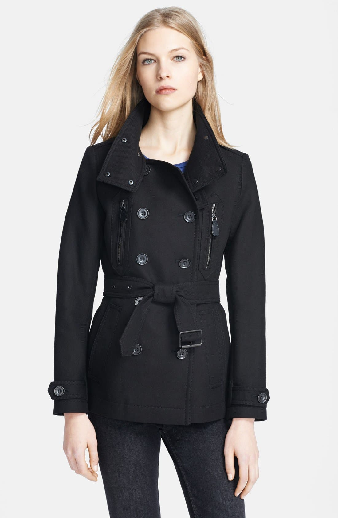 Alternate Image 1 Selected - Burberry Brit 'Wilford' Double Breasted Trench Coat