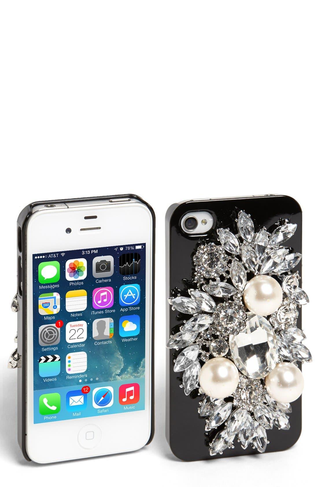 Main Image - Natasha Couture 'Be Dazzled' iPhone 4 Case
