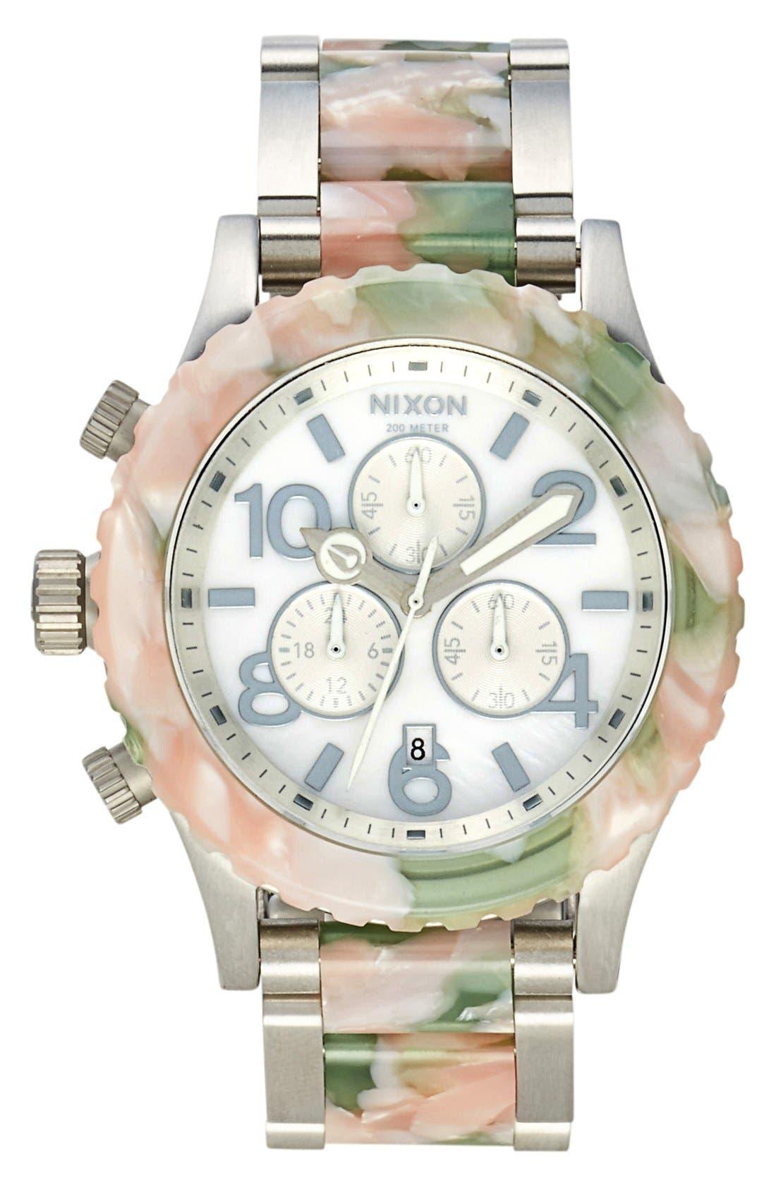 Main Image - Nixon 'The 42-20 Chrono Watercolor' Bracelet Watch, 42mm
